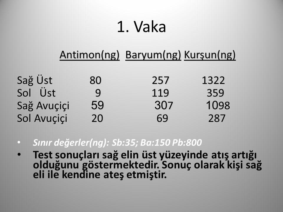 1. Vaka Antimon(ng) Baryum(ng) Kurşun(ng) Sağ Üst 80 257 1322