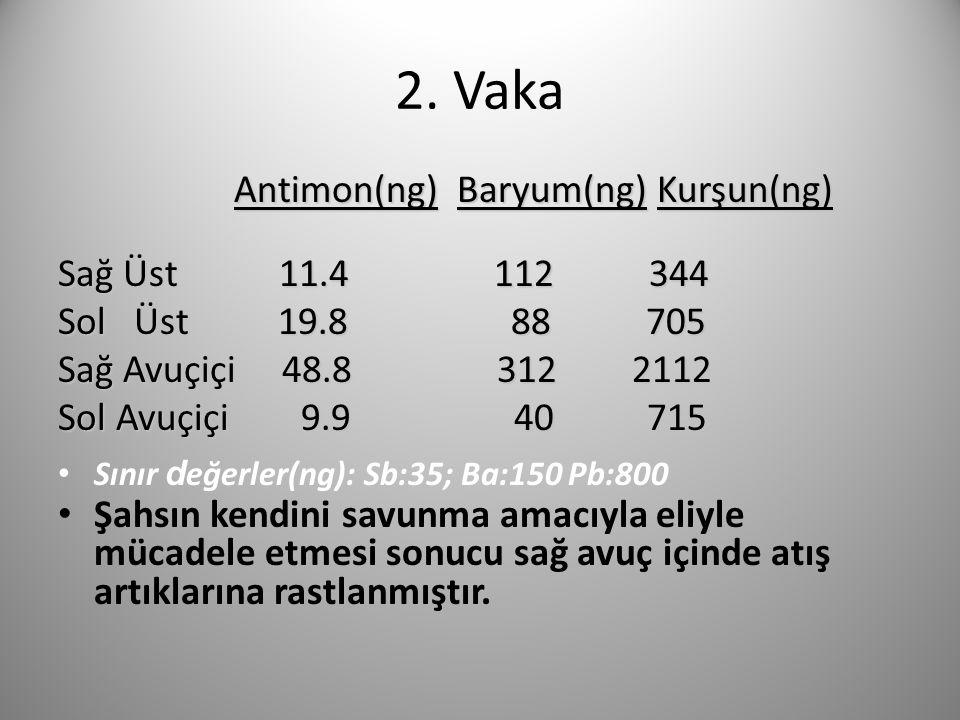 2. Vaka Antimon(ng) Baryum(ng) Kurşun(ng) Sağ Üst 11.4 112 344