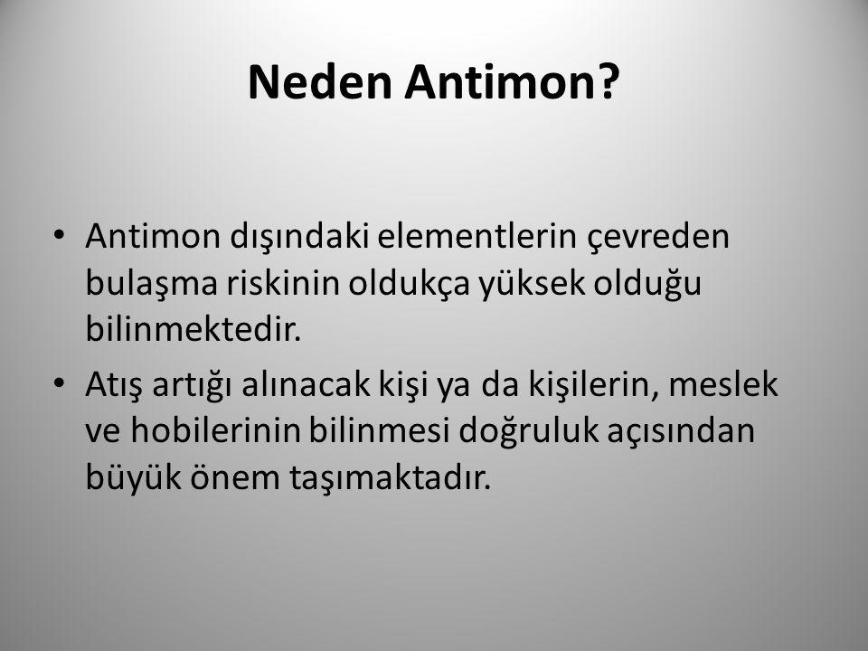 Neden Antimon Antimon dışındaki elementlerin çevreden bulaşma riskinin oldukça yüksek olduğu bilinmektedir.