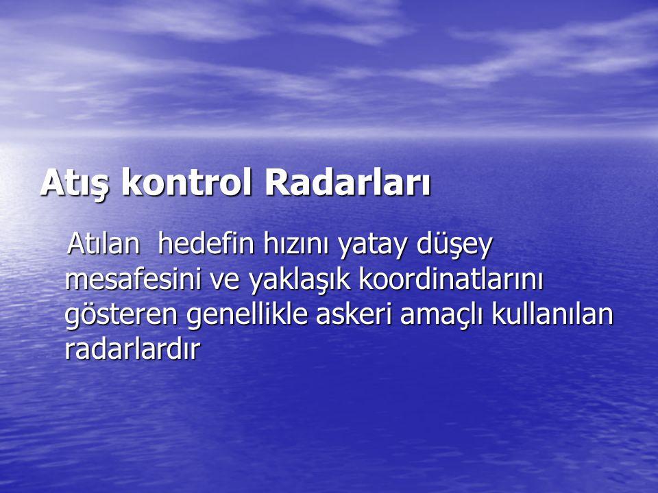 Atış kontrol Radarları