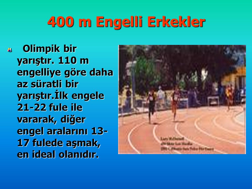 400 m Engelli Erkekler