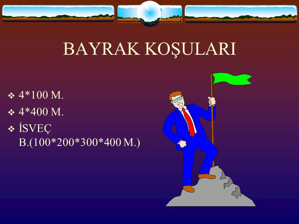 BAYRAK KOŞULARI 4*100 M. 4*400 M. İSVEÇ B.(100*200*300*400 M.)