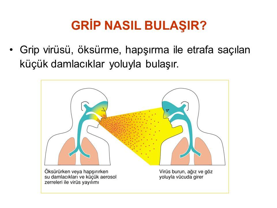 GRİP NASIL BULAŞIR.