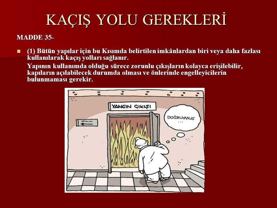 KAÇIŞ YOLU GEREKLERİ MADDE 35-