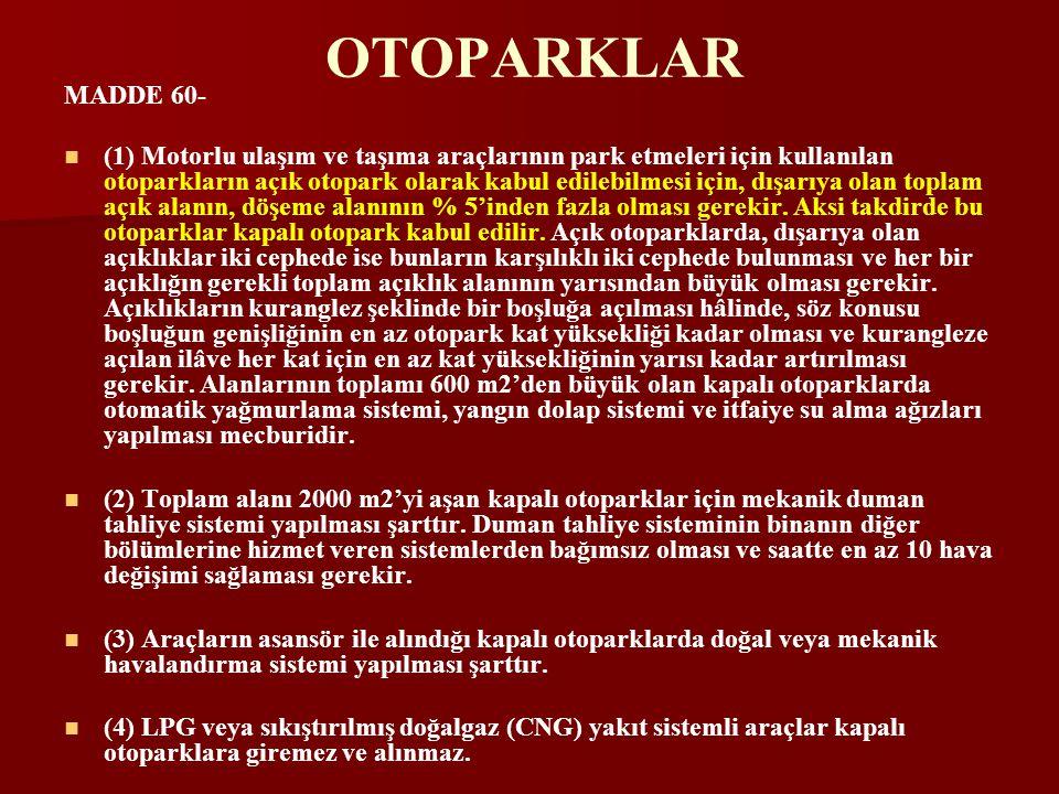 OTOPARKLAR MADDE 60-