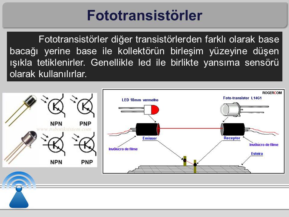 Fototransistörler
