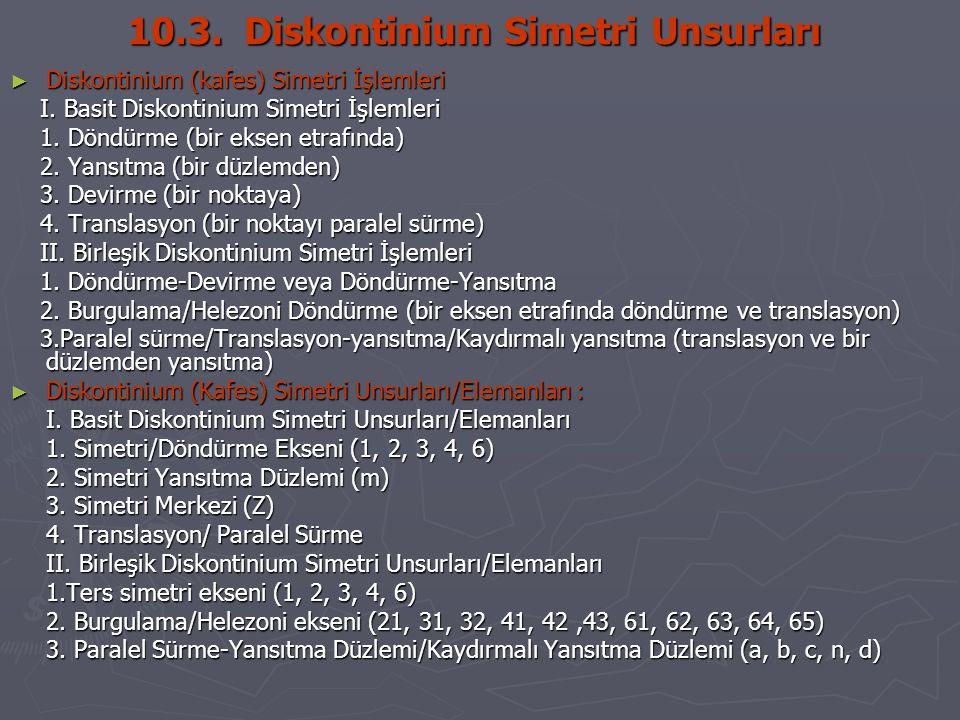 10.3. Diskontinium Simetri Unsurları