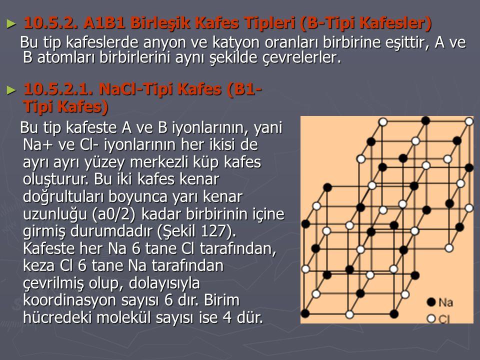 10.5.2. A1B1 Birleşik Kafes Tipleri (B-Tipi Kafesler)
