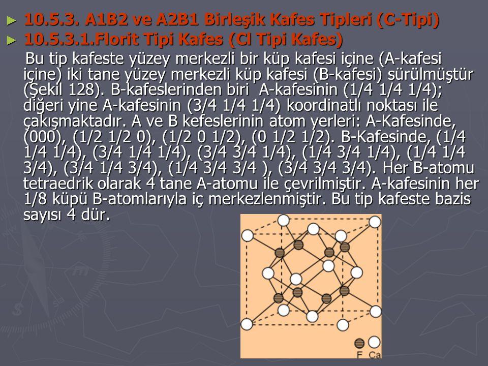 10.5.3. A1B2 ve A2B1 Birleşik Kafes Tipleri (C-Tipi)