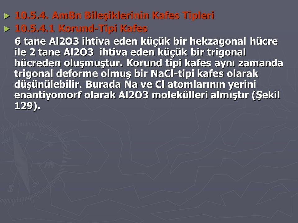 10.5.4. AmBn Bileşiklerinin Kafes Tipleri