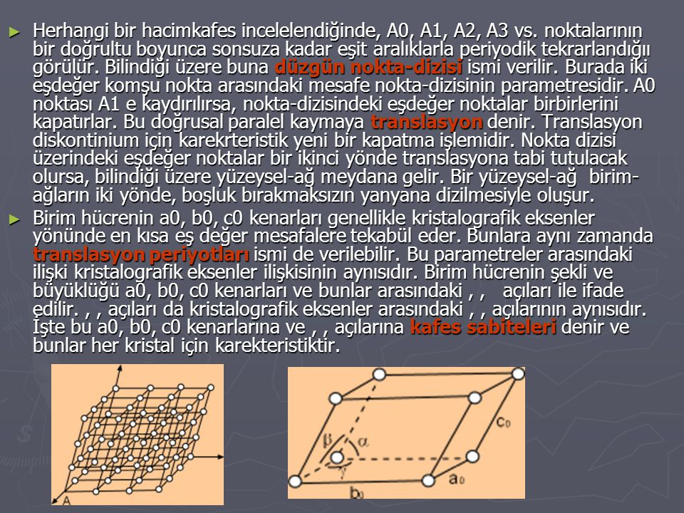 Herhangi bir hacimkafes incelelendiğinde, A0, A1, A2, A3 vs