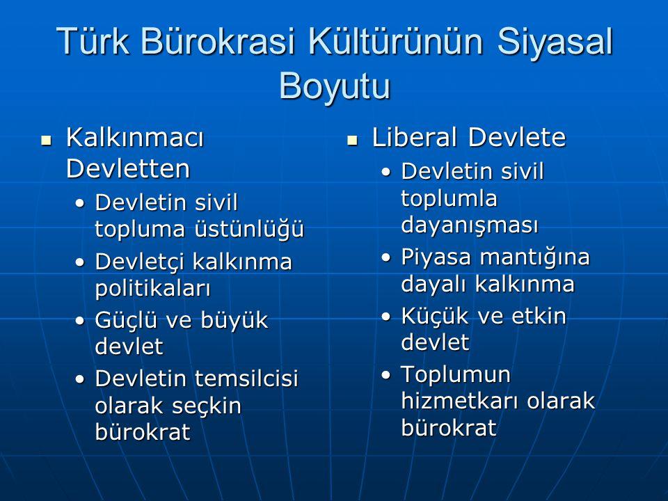Türk Bürokrasi Kültürünün Siyasal Boyutu