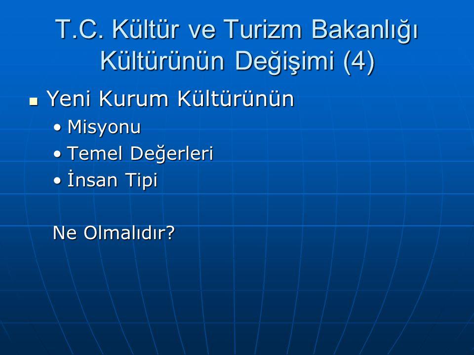 T.C. Kültür ve Turizm Bakanlığı Kültürünün Değişimi (4)