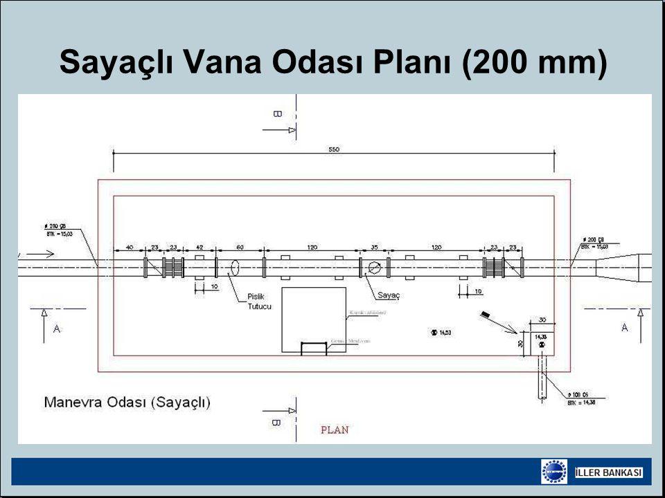 Sayaçlı Vana Odası Planı (200 mm)