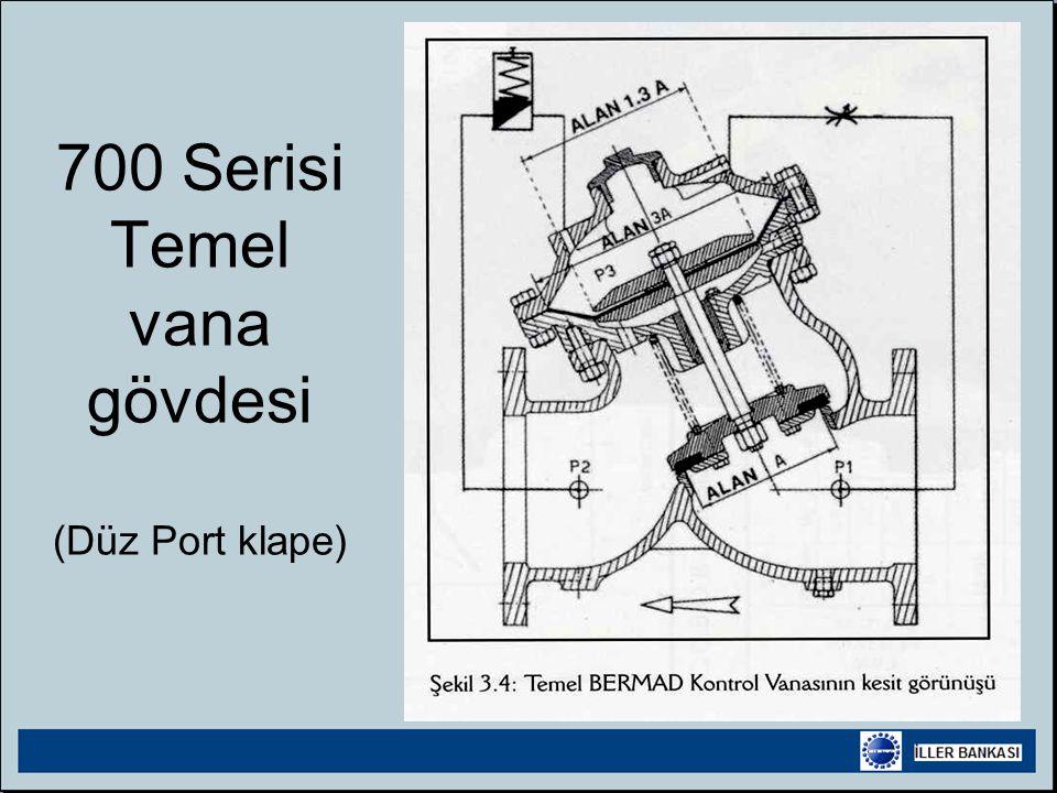 700 Serisi Temel vana gövdesi (Düz Port klape)