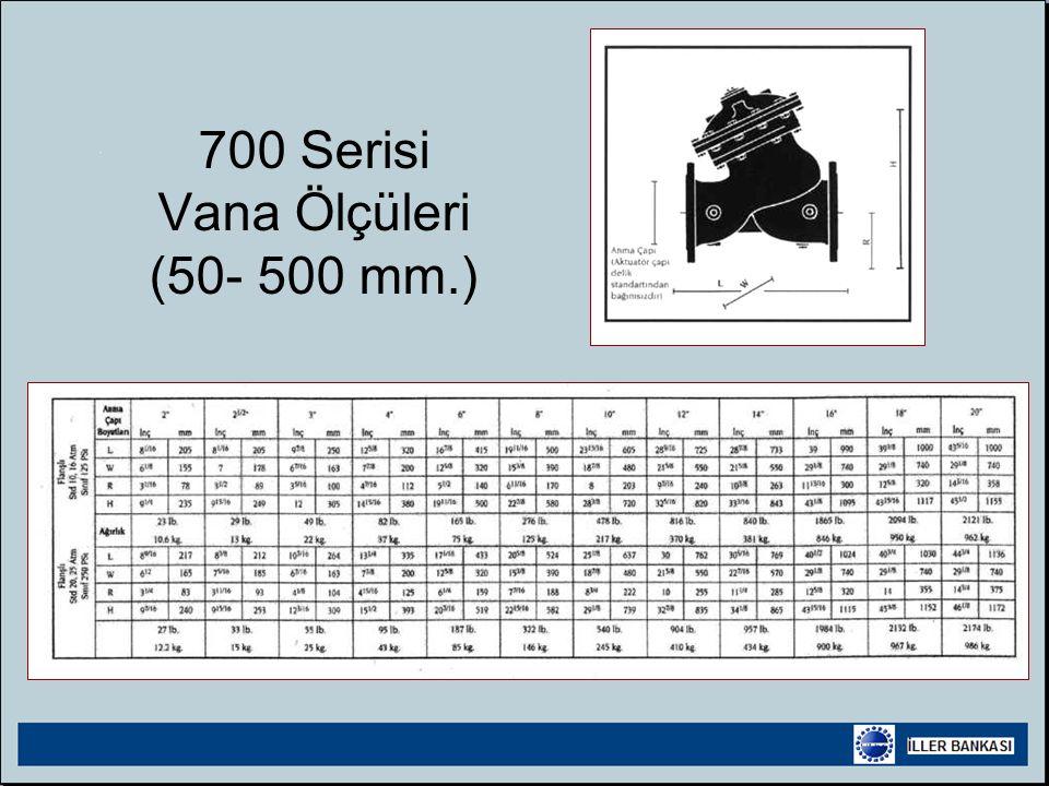 700 Serisi Vana Ölçüleri (50- 500 mm.)