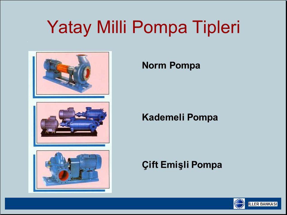 Yatay Milli Pompa Tipleri