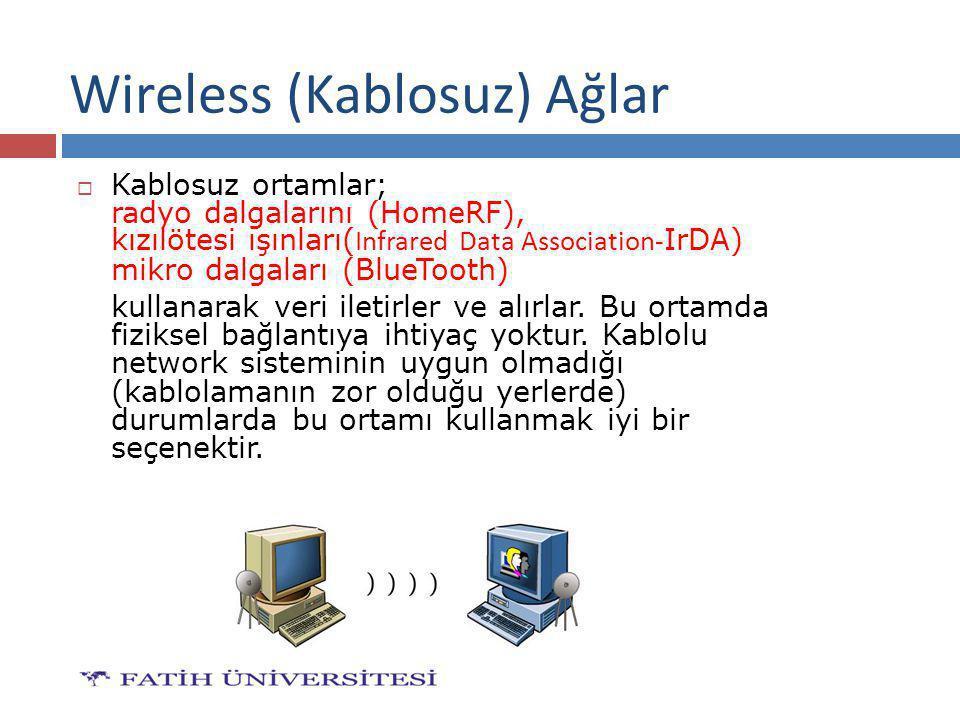 Wireless (Kablosuz) Ağlar