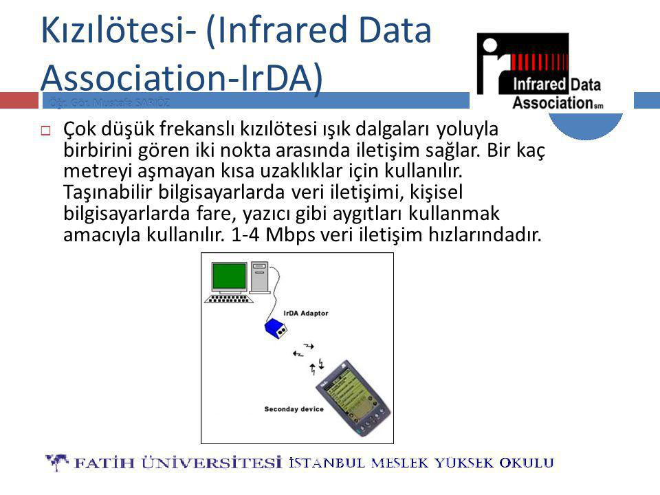 Kızılötesi- (Infrared Data Association-IrDA)