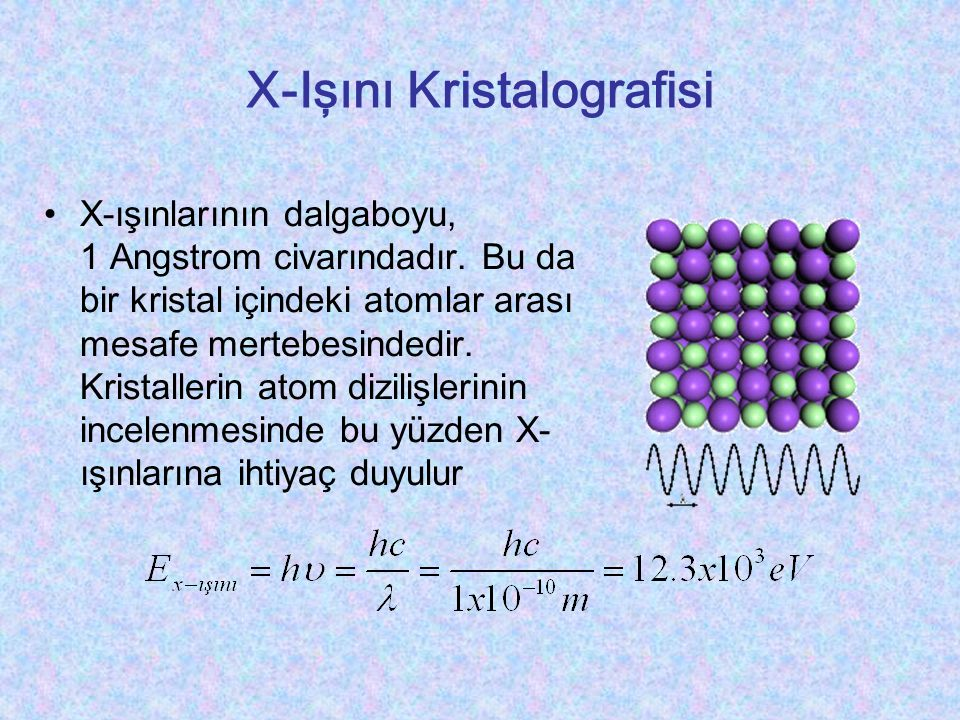 X-Işını Kristalografisi