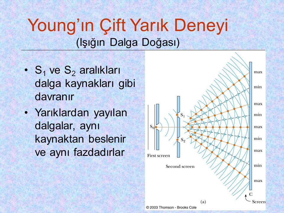 Young'ın Çift Yarık Deneyi (Işığın Dalga Doğası)