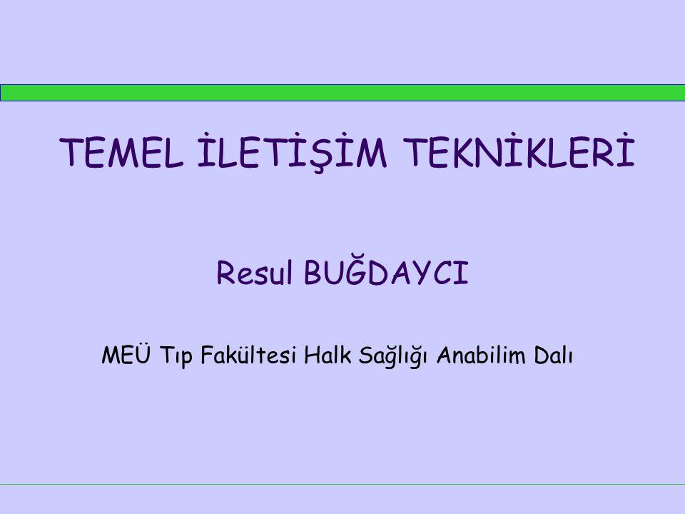 MEÜ Tıp Fakültesi Halk Sağlığı Anabilim Dalı