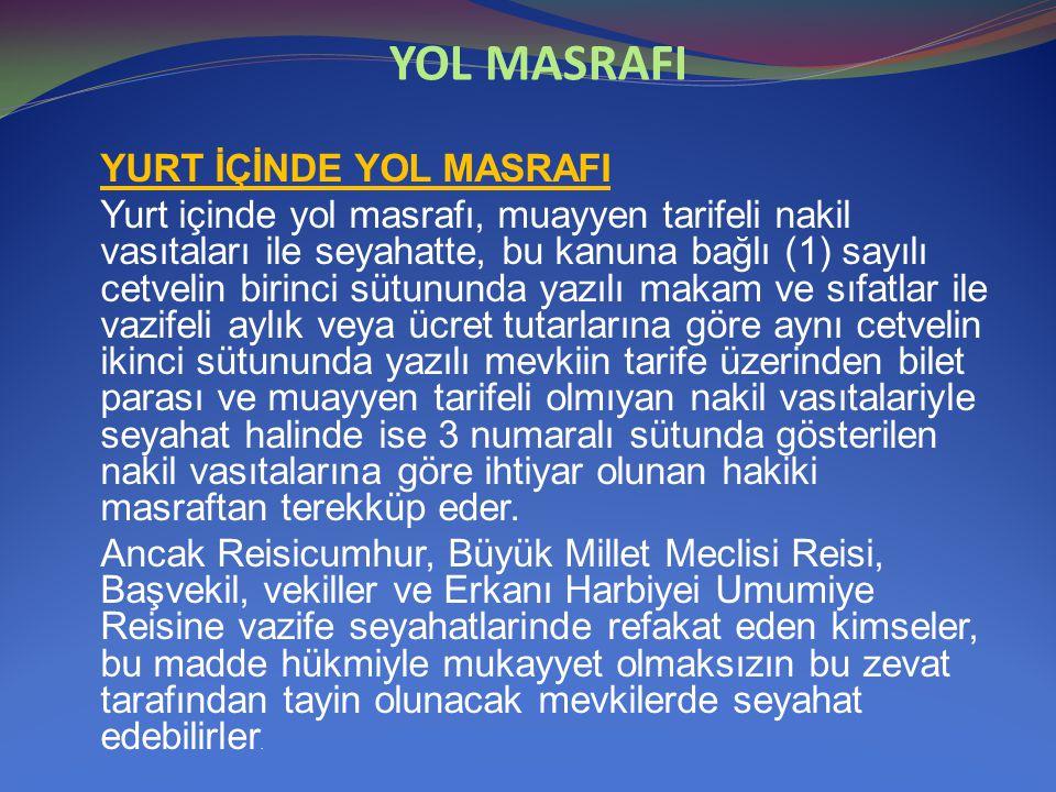 YOL MASRAFI