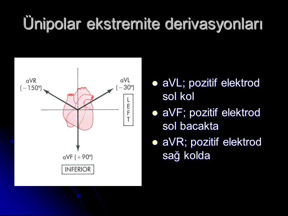 Ünipolar ekstremite derivasyonları