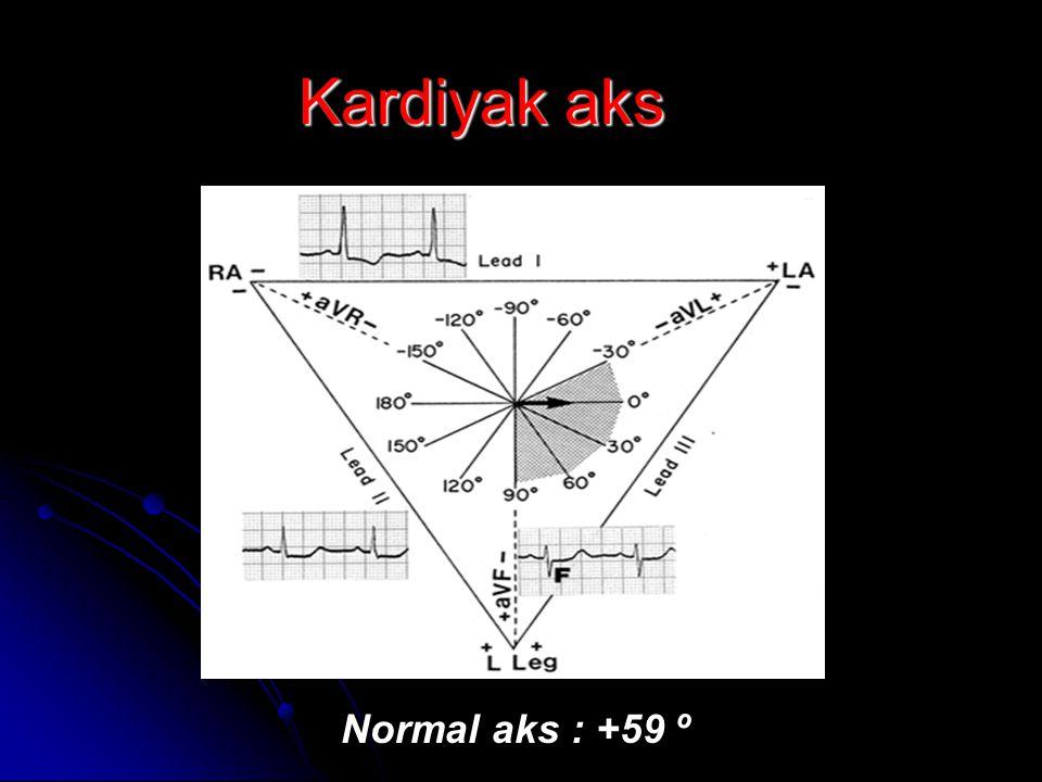 Kardiyak aks Normal aks : +59 º