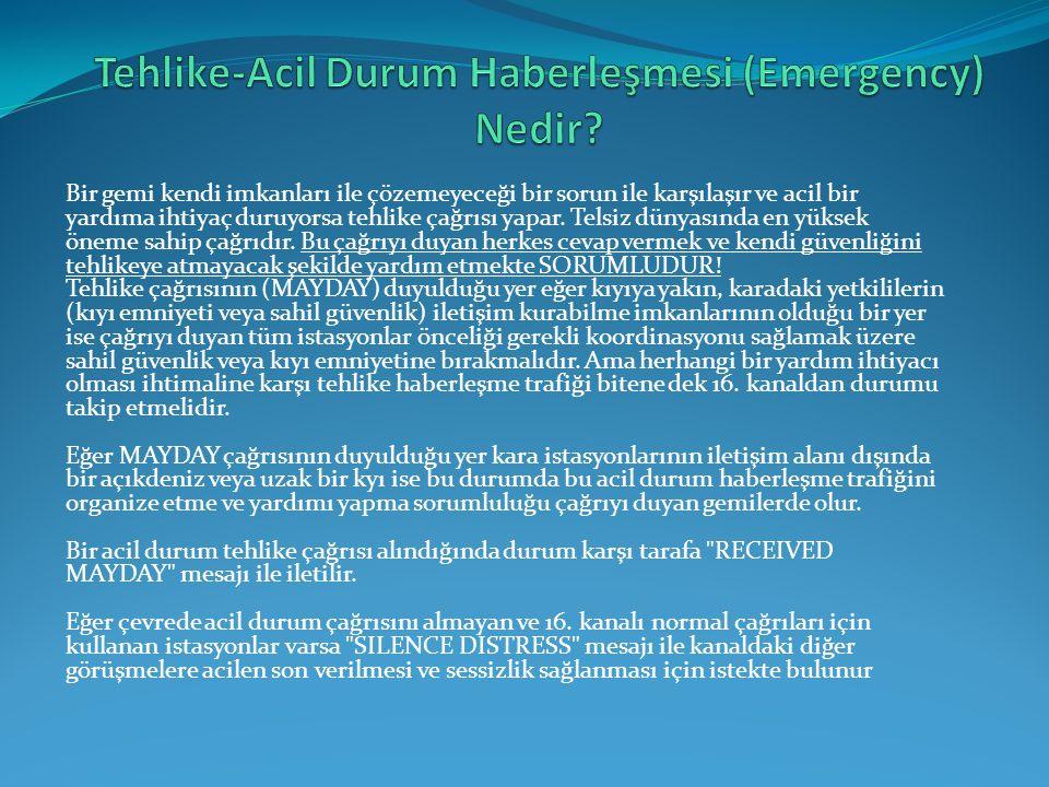 Tehlike-Acil Durum Haberleşmesi (Emergency) Nedir