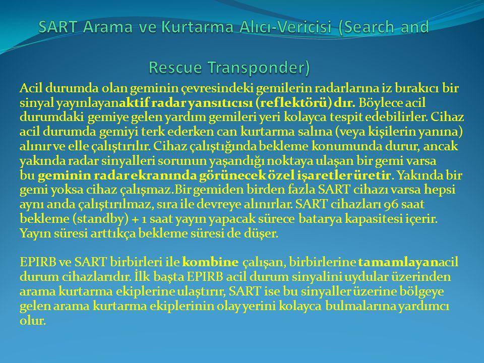 SART Arama ve Kurtarma Alıcı-Vericisi (Search and Rescue Transponder)