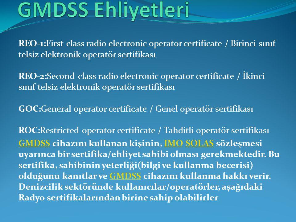 GMDSS Ehliyetleri