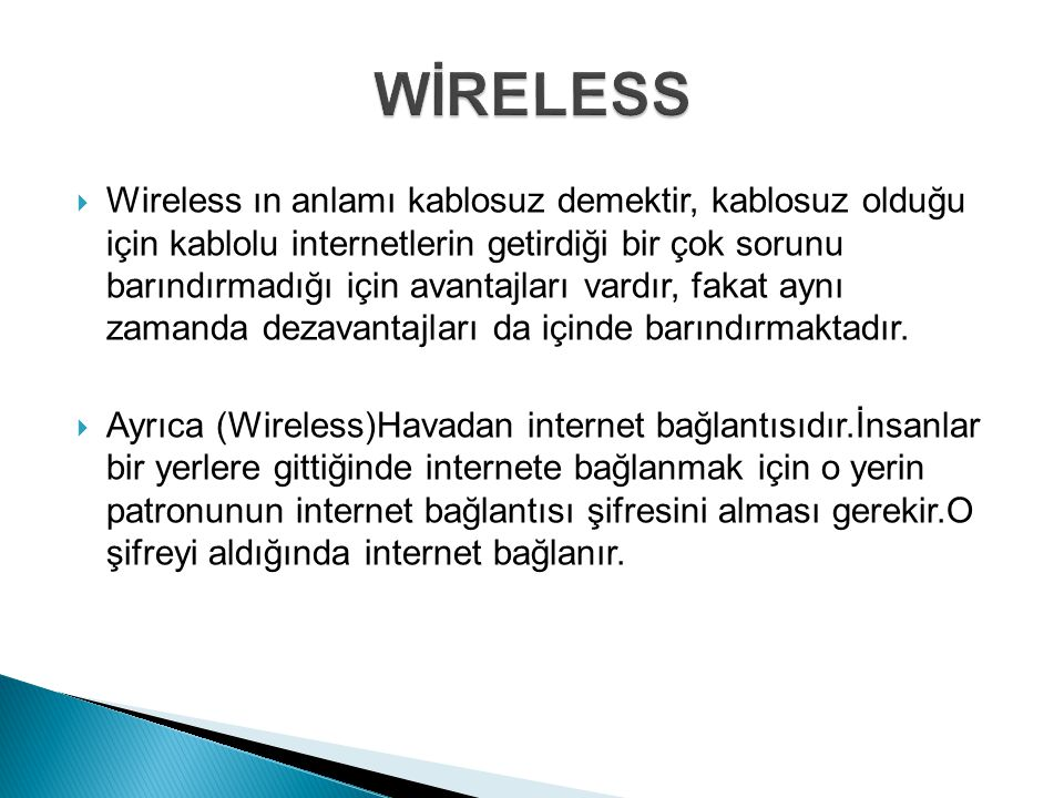WİRELESS
