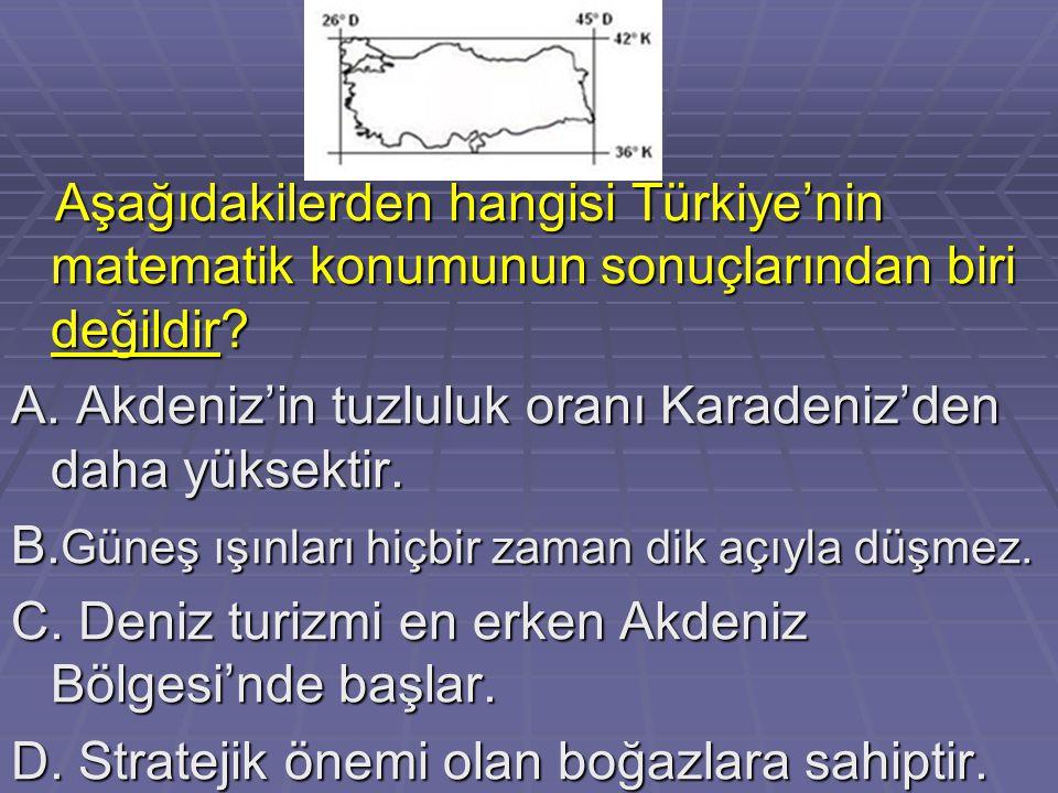 Aşağıdakilerden hangisi Türkiye'nin matematik konumunun sonuçlarından biri değildir