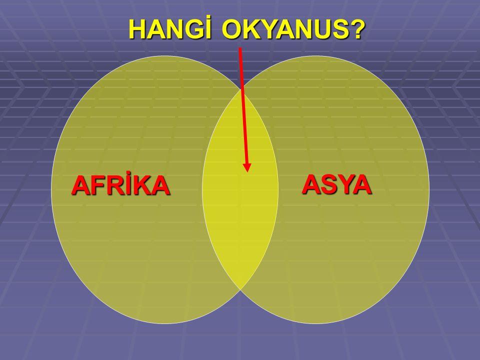 HANGİ OKYANUS AFRİKA ASYA