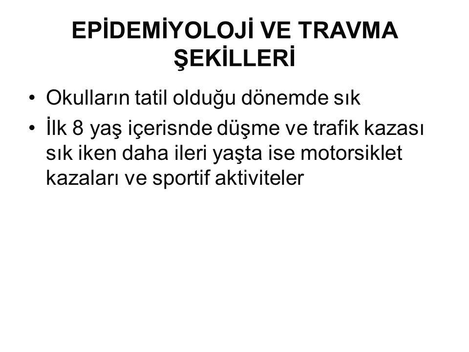 EPİDEMİYOLOJİ VE TRAVMA ŞEKİLLERİ