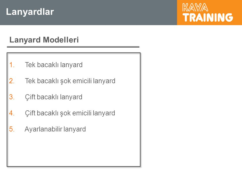 Lanyardlar Lanyard Modelleri Tek bacaklı lanyard
