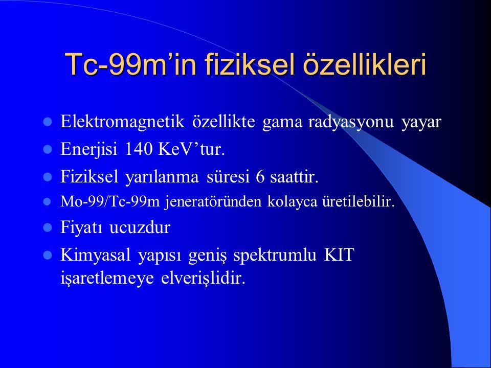 Tc-99m'in fiziksel özellikleri