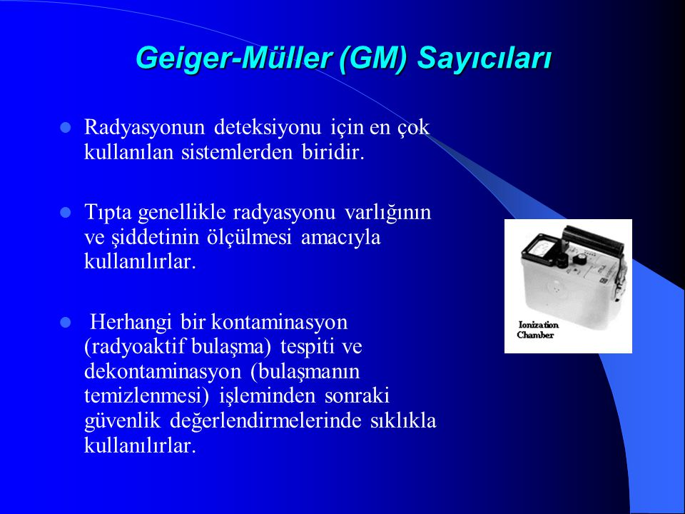 Geiger-Müller (GM) Sayıcıları