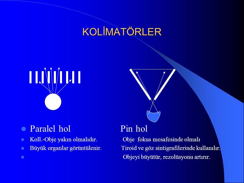 KOLİMATÖRLER Paralel hol Pin hol