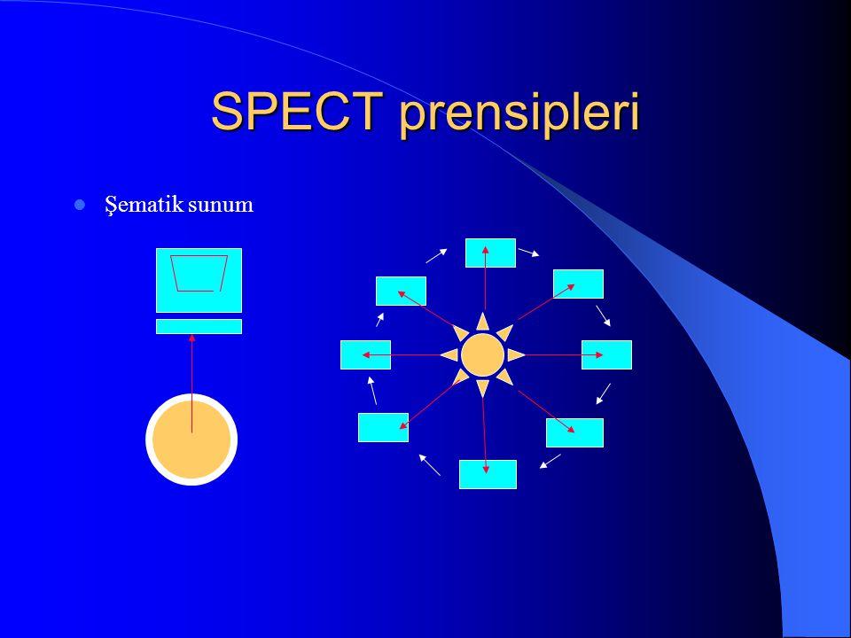 SPECT prensipleri Şematik sunum