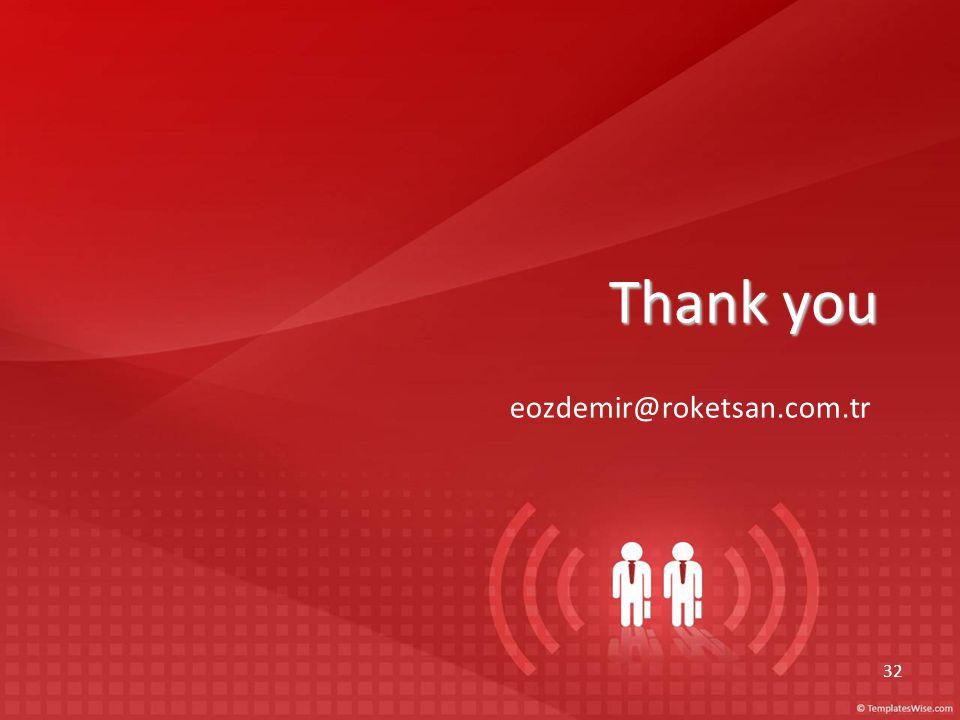 Thank you eozdemir@roketsan.com.tr