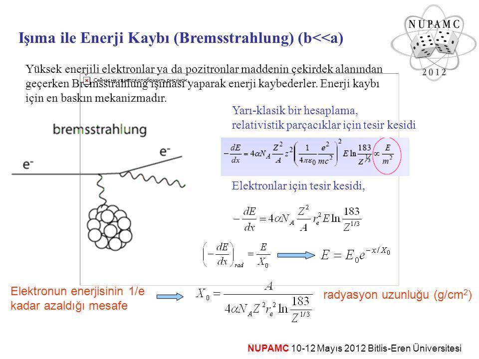 Işıma ile Enerji Kaybı (Bremsstrahlung) (b<<a)