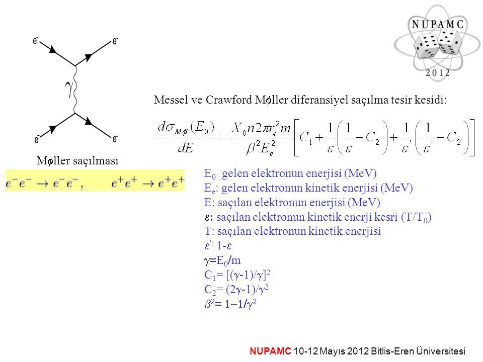 Messel ve Crawford Mfller diferansiyel saçılma tesir kesidi: