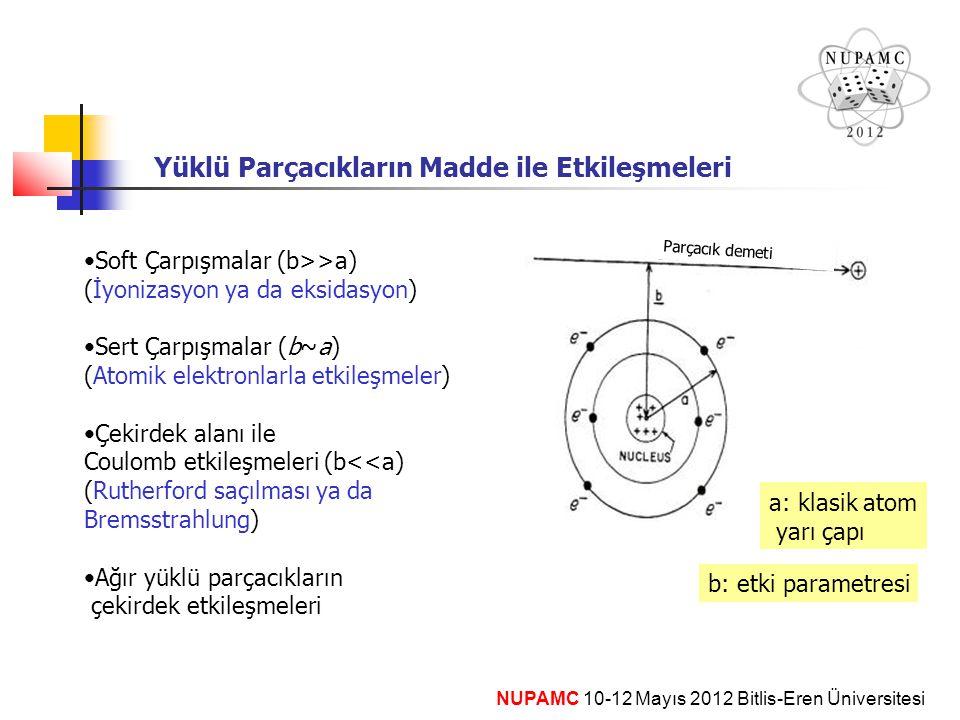 Yüklü Parçacıkların Madde ile Etkileşmeleri