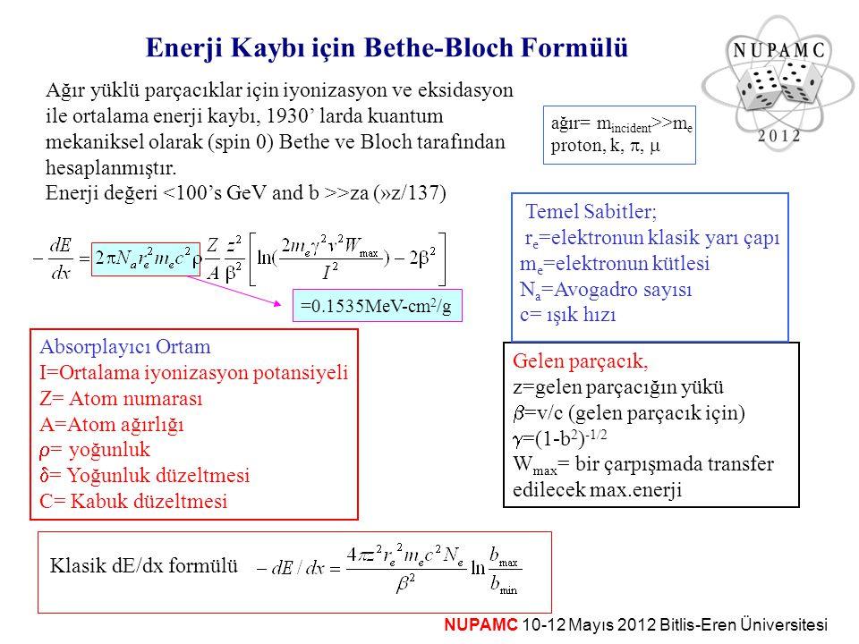 Enerji Kaybı için Bethe-Bloch Formülü