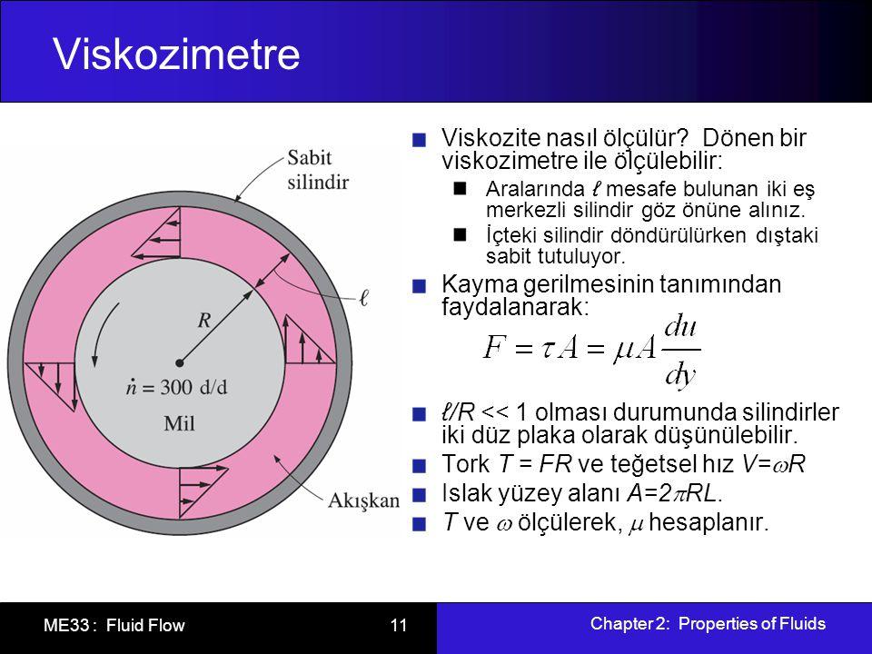 Viskozimetre Viskozite nasıl ölçülür Dönen bir viskozimetre ile ölçülebilir: