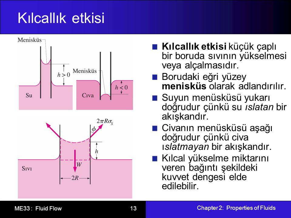 Kılcallık etkisi Kılcallık etkisi küçük çaplı bir boruda sıvının yükselmesi veya alçalmasıdır. Borudaki eğri yüzey menisküs olarak adlandırılır.