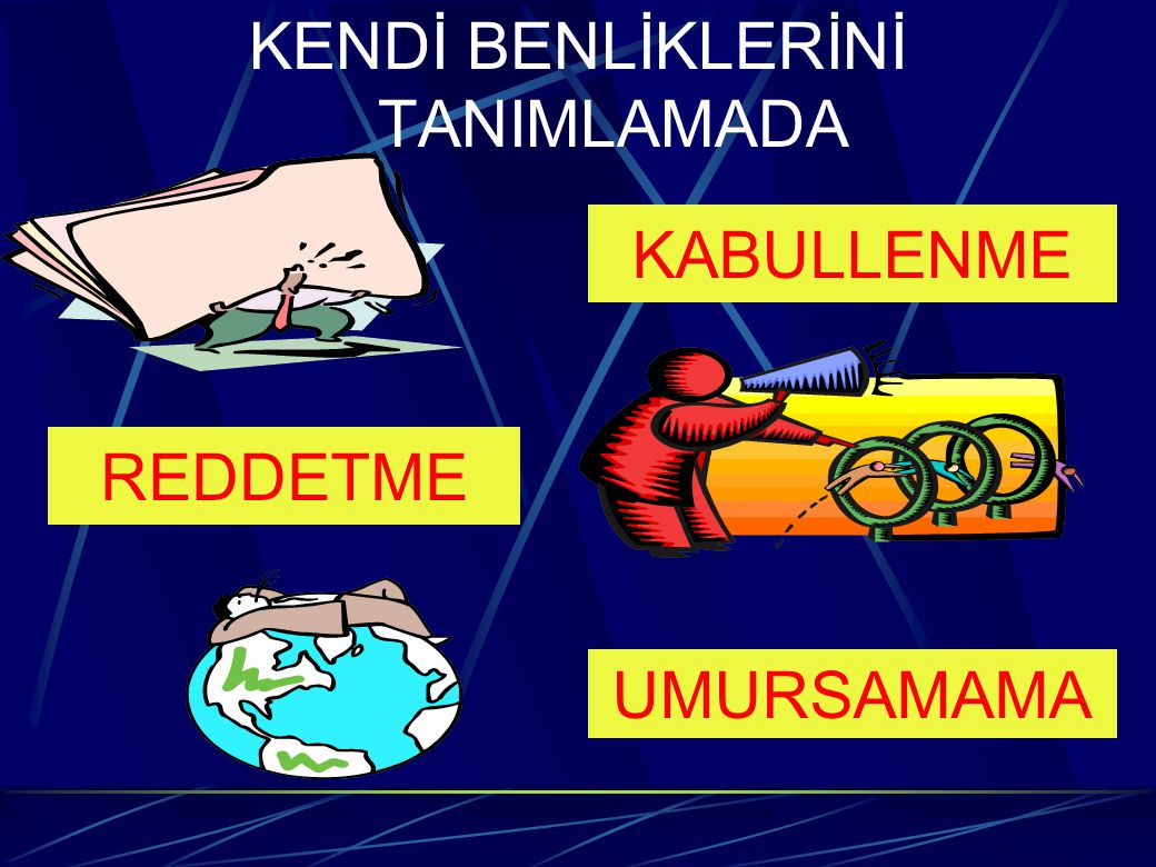 KENDİ BENLİKLERİNİ TANIMLAMADA