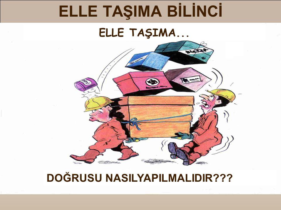 ELLE TAŞIMA BİLİNCİ ELLE TAŞIMA... DOĞRUSU NASILYAPILMALIDIR